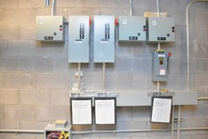 Scarponi Electric Project UNH electrical room